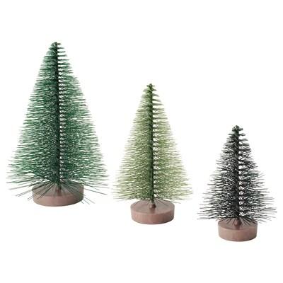 VINTER 2020 Koristeet, 3 kpl, joulukuusi vihreä