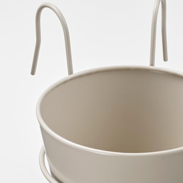 VITLÖK Ruukku ja pidike, sisä-/ulkokäyttöön beige, 15 cm