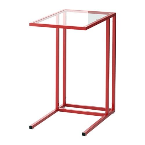 VITTSJÖ Tietokonepöytä  punainen lasi  IKEA