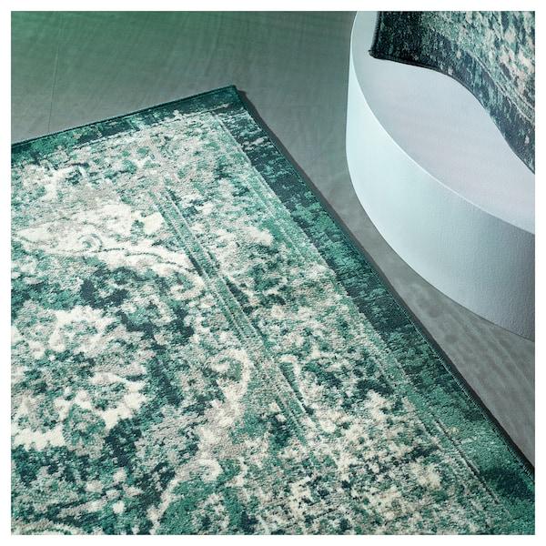 VONSBÄK Matto, matala nukka, vihreä, 170x230 cm