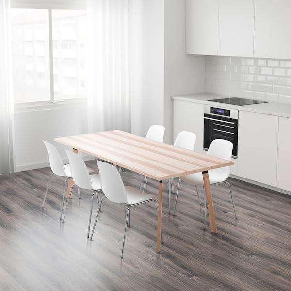 YPPERLIG Pöytä, saarni, 200x90 cm