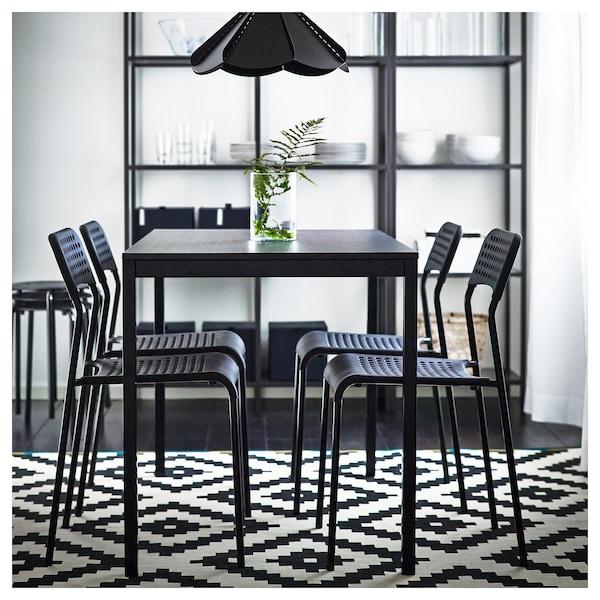 ADDE chaise noir 110 kg 39 cm 47 cm 77 cm 39 cm 34 cm 45 cm