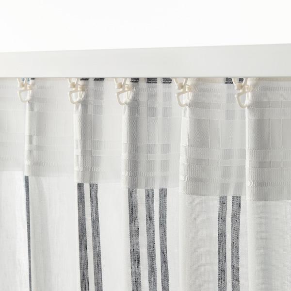 ÄDELSPINNARE rideaux, 2 pièces blanc/rayé 300 cm 145 cm 1.40 kg 4.35 m² 2 pièces