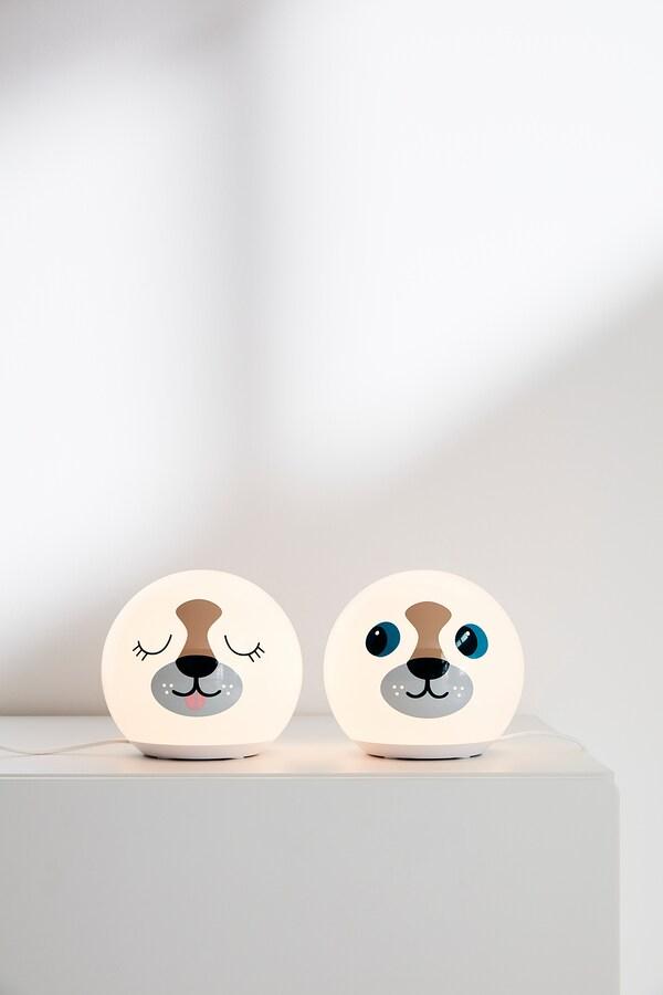 ÄNGARNA Lampe de table à LED, motif chien
