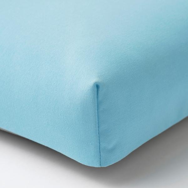 ÄPPLARÖ Canapé 2 places modulable extérieur, teinté brun/Kuddarna bleu clair, 160x80x80 cm
