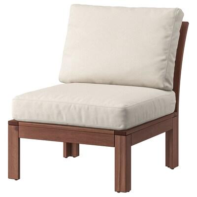 ÄPPLARÖ fauteuil, extérieur teinté brun/Frösön/Duvholmen beige 63 cm 80 cm 84 cm 63 cm 49 cm 40 cm