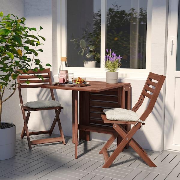 ÄPPLARÖ Table pliante, extérieur, teinté brun IKEA