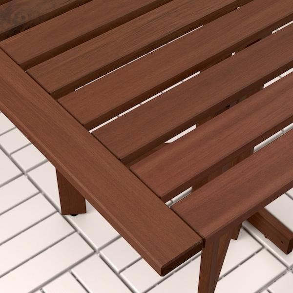 ÄPPLARÖ Pann mural+table pliante+2 chaises, teinté brun/Frösön/Duvholmen gris foncé