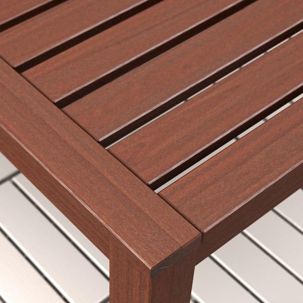 ÄPPLARÖ Table+8 chaises dossier réglable,ex, teinté brun/Kuddarna gris