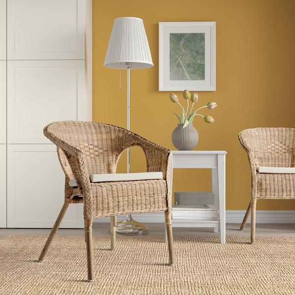 AGEN Fauteuil avec coussin rotin, Norna naturel IKEA