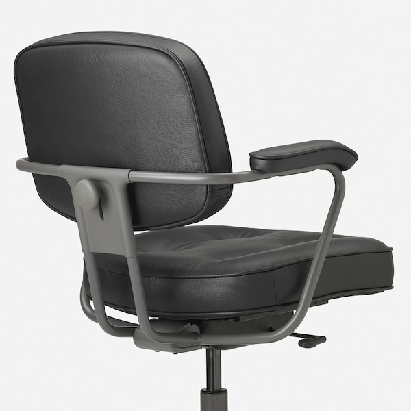 ALEFJÄLL Chaise de bureau, Glose noir