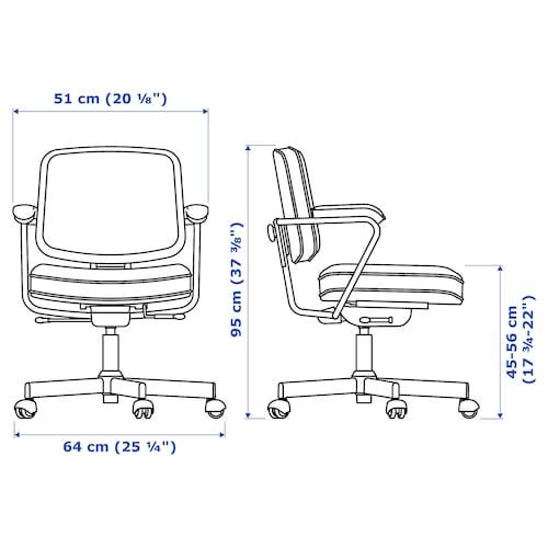 ALEFJÄLL Chaise de bureau, Glose noir IKEA