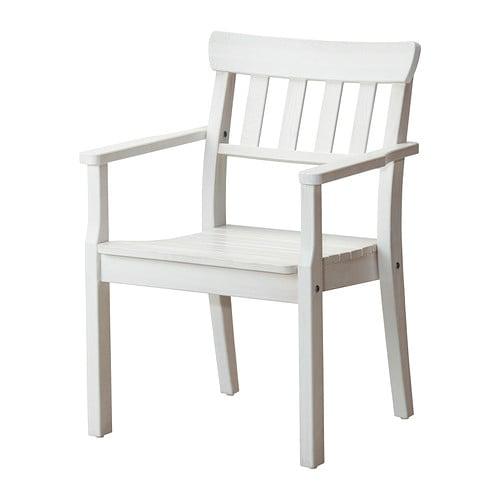 Ngs chaise avec accoudoirs ext rieur teint blanc ikea for Chaise qui ne prend pas de place