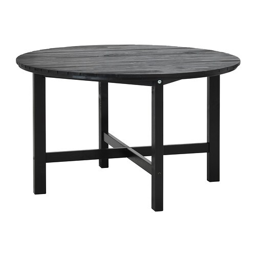Ngs table ext rieur brun noir ikea - Table basse brun noir ...