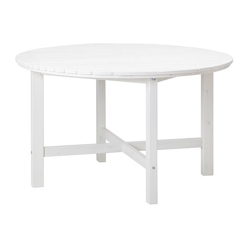 Ngs table ext rieur blanc ikea for Table qui s agrandit ikea