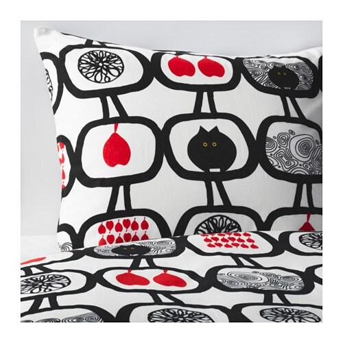 ngssk ra housse de couette et 2 taies 240x220 65x65 cm ikea. Black Bedroom Furniture Sets. Home Design Ideas