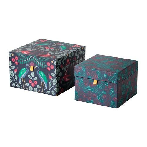 Image Boite Cadeau anilinare boîte cadeau, lot de 2 - ikea