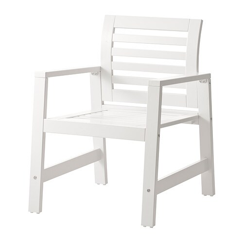 Pplar chaise avec accoudoirs ext rieur blanc ikea for Exterieur ikea 2015