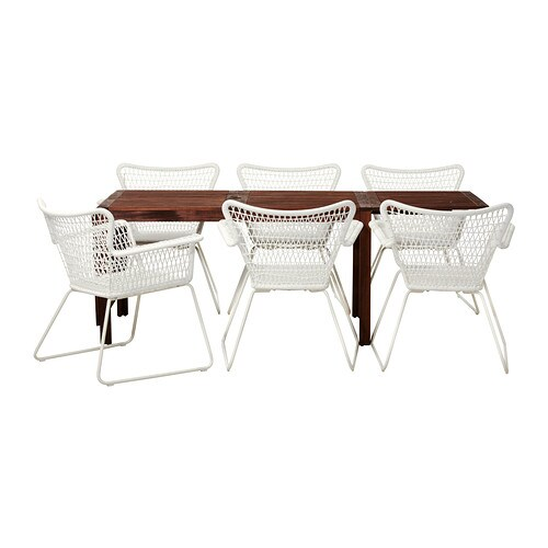 Pplar h gsten table 6 chaises accoud ext rieur ikea - Chaises exterieur ikea ...