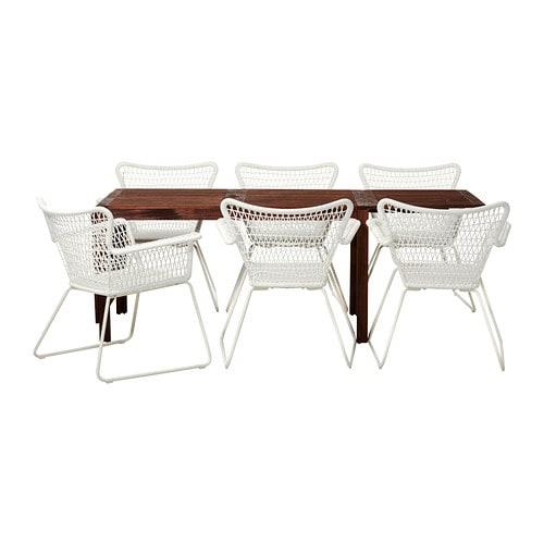 Pplar h gsten table 6 chaises accoud ext rieur ikea - Fauteuil ikea exterieur ...