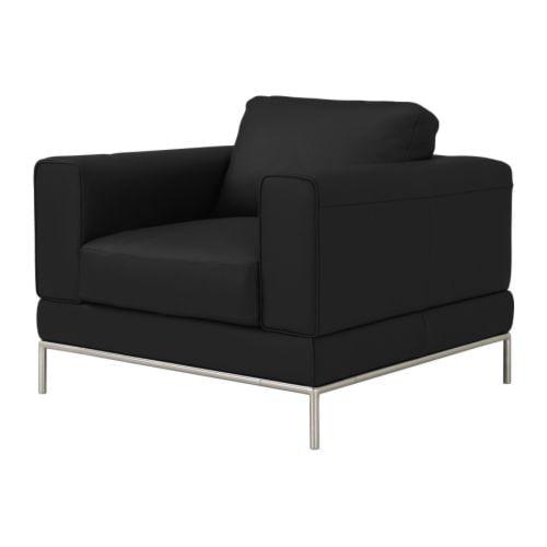 Arild fauteuil karakt r noir ikea - Ikea fauteuil poang cuir ...