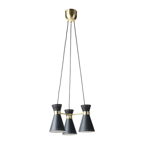 arjeplog suspension 3 lampes noir laiton toiles ikea. Black Bedroom Furniture Sets. Home Design Ideas