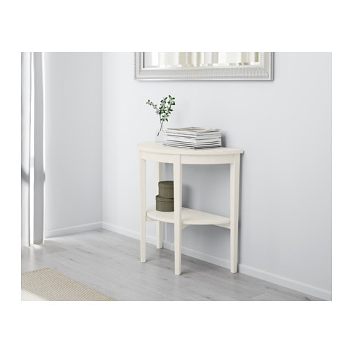 Arkelstorp table demi lune blanc ikea - Table salon blanc ikea ...
