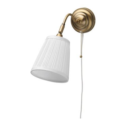 rstid applique laiton blanc profondeur 38 cm diam abat jour - Applique Chambre Ikea