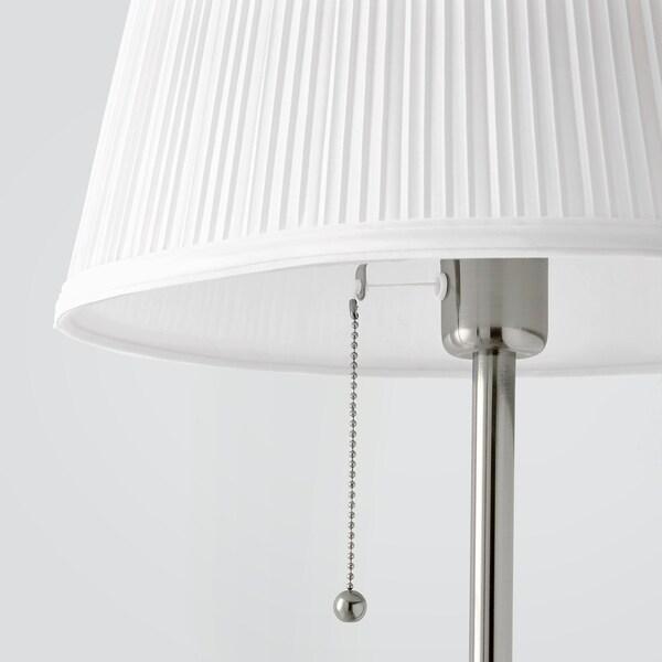 ÅRSTID lampadaire nickelé/blanc 100 W 155 cm 28 cm 36 cm 204 cm