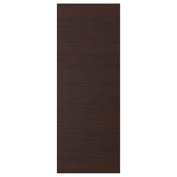 ASKERSUND Porte, brun foncé décor frêne, 30x80 cm