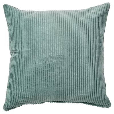 ÅSVEIG Housse de coussin, gris turquoise, 50x50 cm