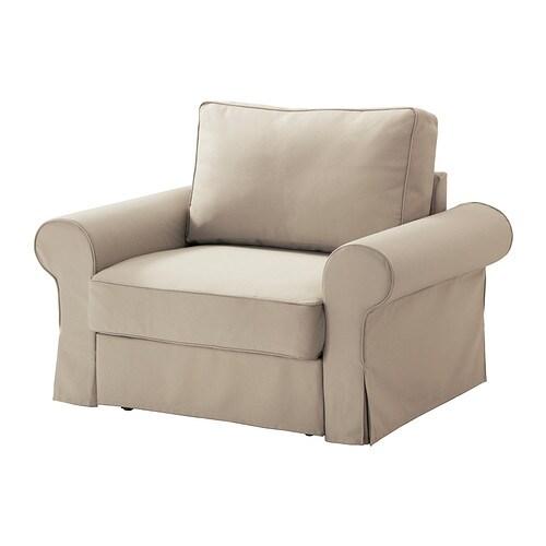 Backabro housse de fauteuil convertible tygelsj beige for Housse de fauteuil ikea