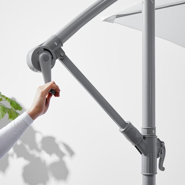 BAGGÖN Parasol déporté, blanc, 250 cm