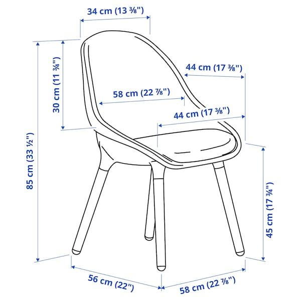 BALTSAR Chaise, bleu noir/brun