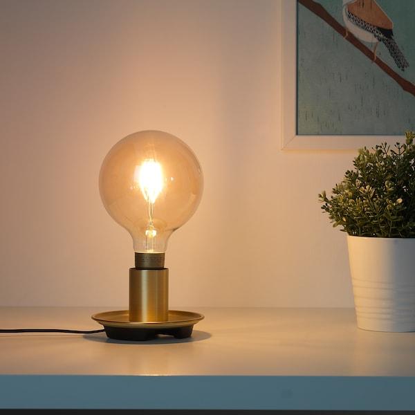 BARALUND Pied de lampe de table, couleur laiton