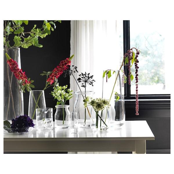 BEGÄRLIG Vase, verre transparent, 18 cm