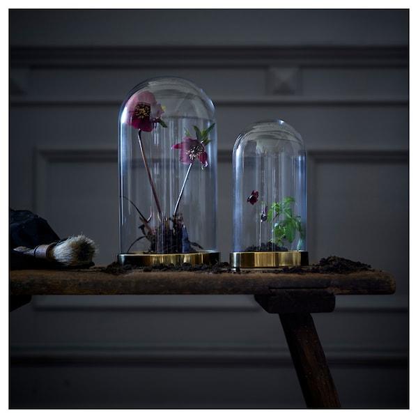 BEGÅVNING Cloche en verre avec socle, 26 cm