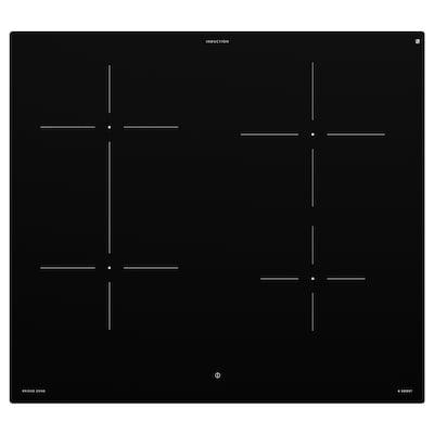 BEJUBLAD Table de cuisson induction, IKEA 500 noir, 58 cm