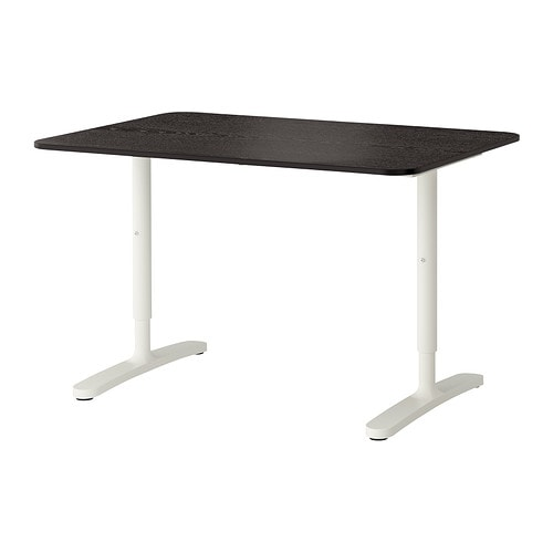 bekant bureau brun noir blanc ikea