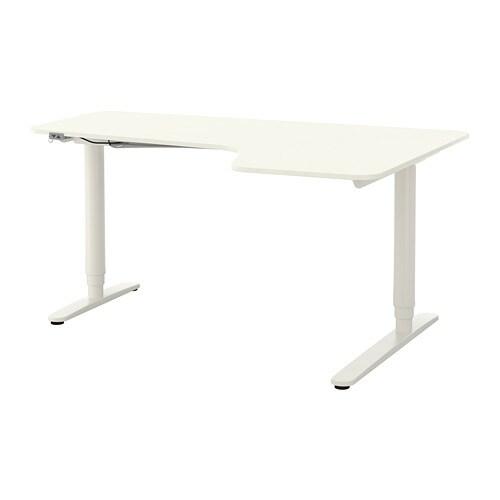 bekant bureau d 39 angle dr assis debout blanc ikea. Black Bedroom Furniture Sets. Home Design Ideas