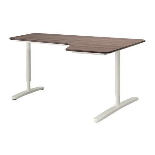 bekant bureau d 39 angle drt gris blanc ikea. Black Bedroom Furniture Sets. Home Design Ideas