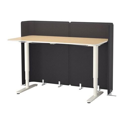 bekant bureau de r ception assis debout plaqu bouleau. Black Bedroom Furniture Sets. Home Design Ideas