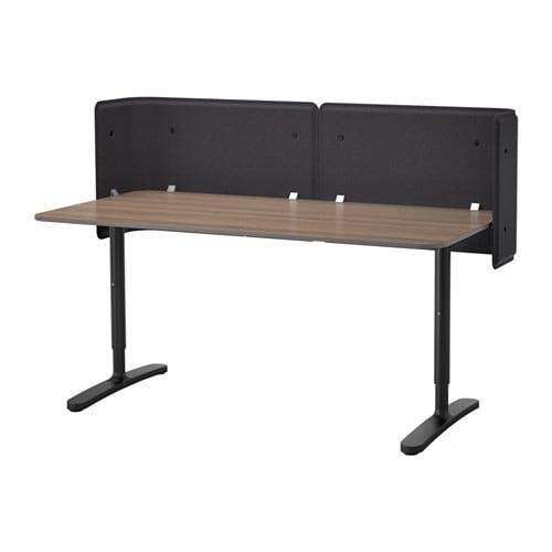 bekant bureau de r ception gris noir ikea. Black Bedroom Furniture Sets. Home Design Ideas