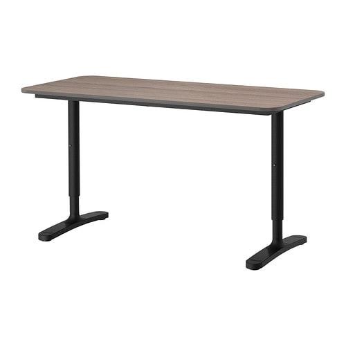 bekant bureau gris noir ikea. Black Bedroom Furniture Sets. Home Design Ideas