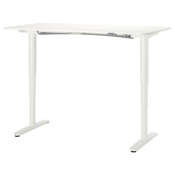 BEKANT bureau assis/debout blanc 160 cm 80 cm 65 cm 125 cm 70 kg