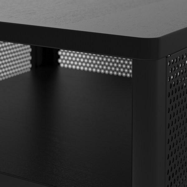 BEKANT Meubles de rangement avec pieds, grillage noir, 41x61 cm