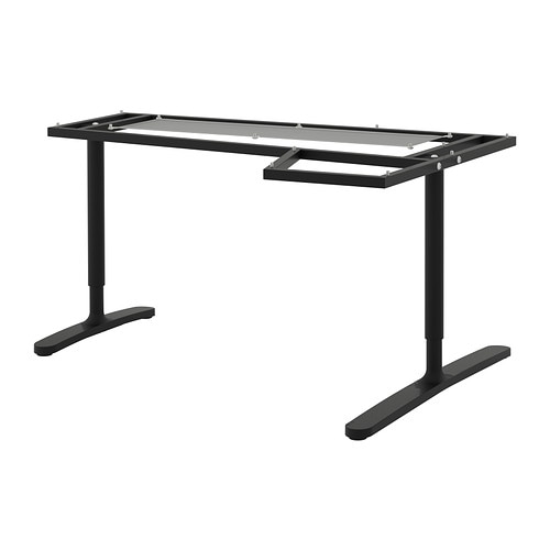 bekant pi tement plateau table angle noir ikea. Black Bedroom Furniture Sets. Home Design Ideas