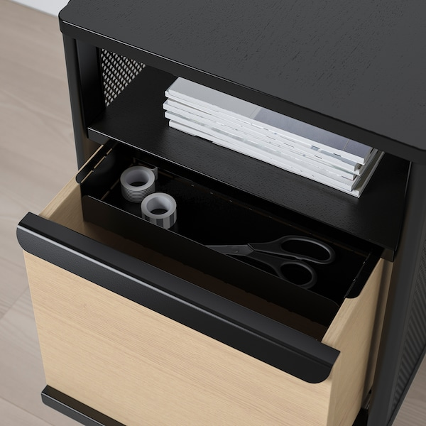 BEKANT Rangement mobile, grillage noir, 41x61 cm