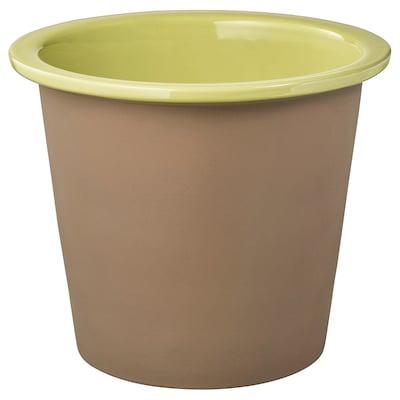 BERGAMOTT cache-pot intérieur/extérieur jaune vert 22 cm 26 cm 19 cm 22 cm