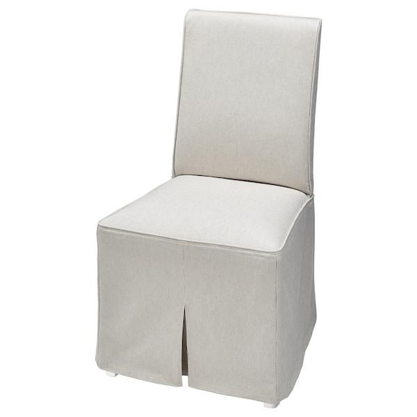 BERGMUND Chaise avec housse longue, blanc/Kolboda beige/gris foncé